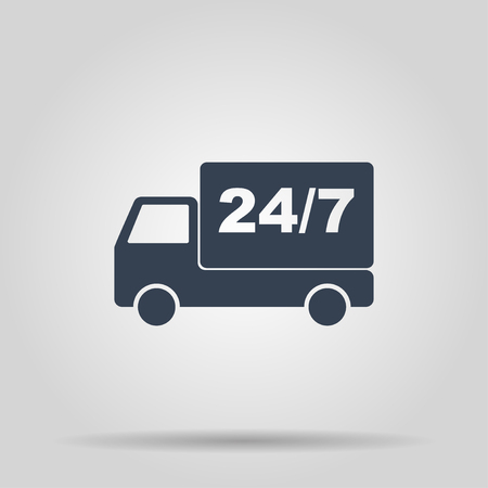 home delivery. Flat design style eps 10 일러스트