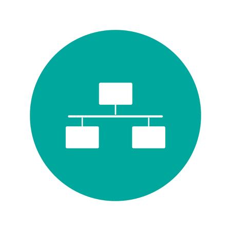 area: Local area network icon. Flat design style modern vector illustration. Illustration