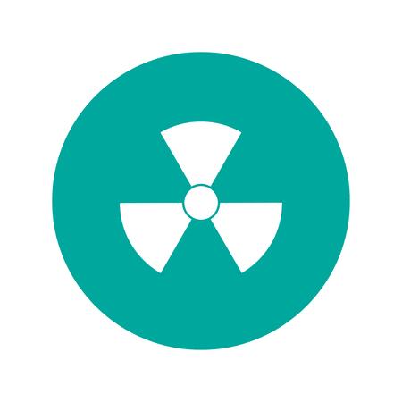 caesium: radiation symbol. Flat design style eps 10 Illustration
