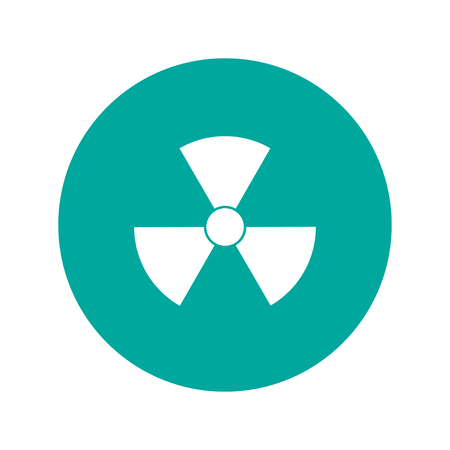 fission: radiation symbol. Flat design style eps 10 Illustration