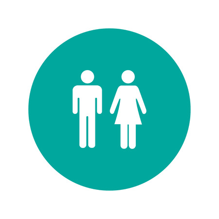 urban planning: Vector man and woman icons, toilet sign, restroom icon, minimal style, pictogram