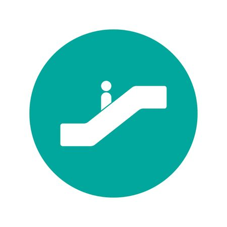 escalator: Escalator icon. Flat design style. EPS 10
