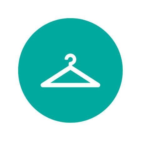 hanger vector icons. Flat design vector style.