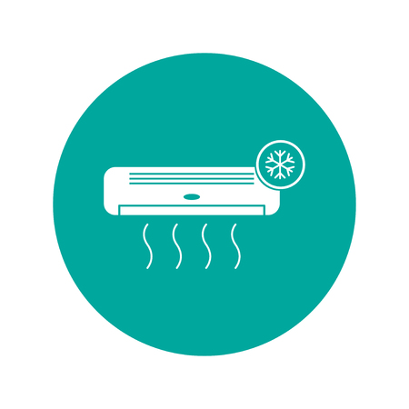expel: Air conditioner icon. Flat design style eps 10