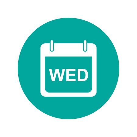 weekdays: days of the week.  Modern design flat style icon.