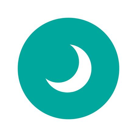 twilight: moon vector icon, Flat design style  EPS Illustration