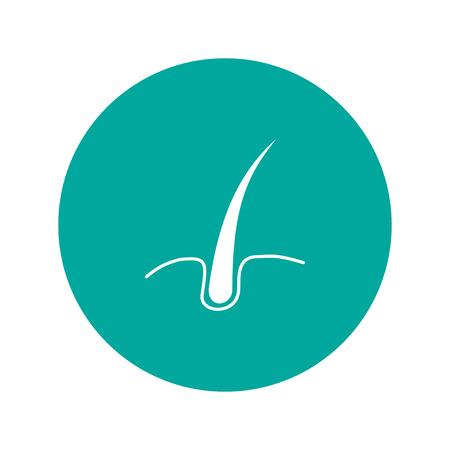sebaceous: hair  icon. Flat design style eps 10
