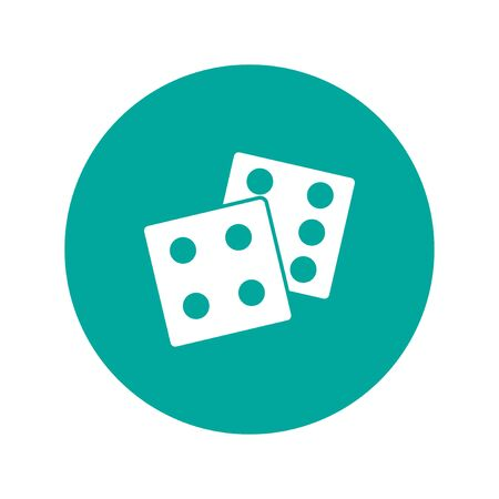 dice: dice icon. Flat design style eps 10