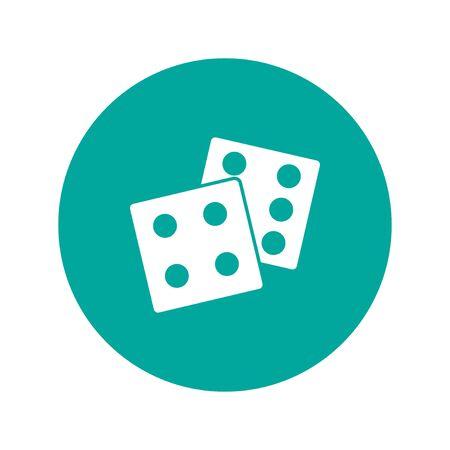 dados: icono de los dados. estilo de diseño plano eps 10 Vectores