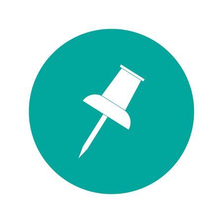 push pin icon: Vector push pin icon. Flat design style eps 10