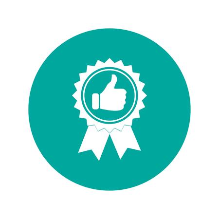 medal like: Vector medallion icon. Flat design style eps 10 Illustration