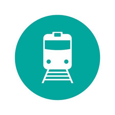 tren: Icono de tren, aislado vector eps 10 ilustración