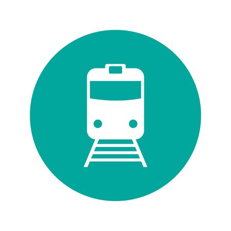 trains: Train icon, isolated vector eps 10 illustration