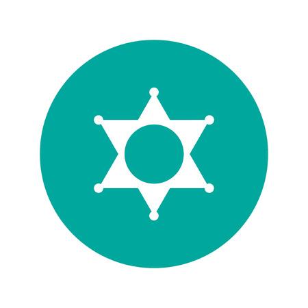 deputy: Sheriff star. Flat design style eps 10