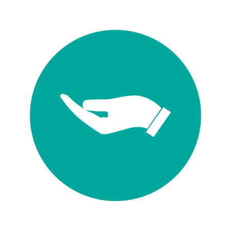 www arm: Vector protecting hands icon, isolated illustration EPS