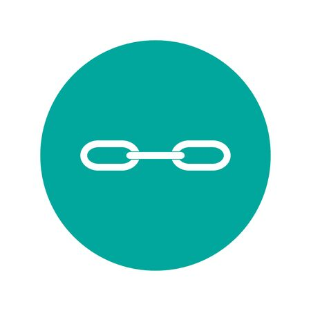 pressure linked: link icon. Flat design style eps 10