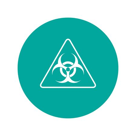 biohazard: Vector biohazard sign or icon, flat Illustration