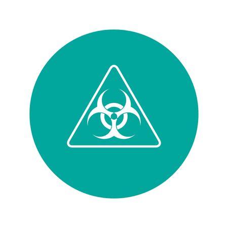 riesgo biologico: Vector signo de riesgo biológico o icono, Ilustración plana