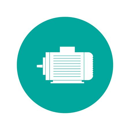 electric motor: Electric motor icon, Vector flat Illustration