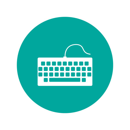 keyboard icon. Flat design style Vectores