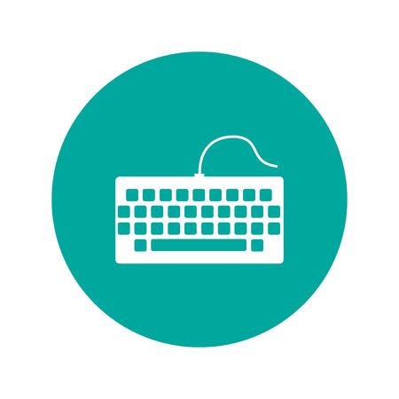 Tastatur-Symbol. Flache Design-Stil