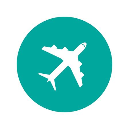 飛行機アイコン。フラットのベクトル図