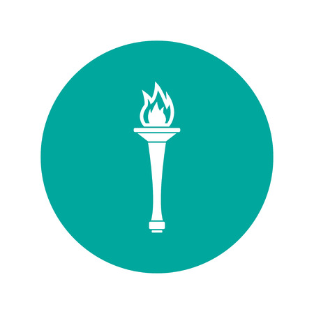 peace stamp: Torch icon - Vector Illustration . Flat design style