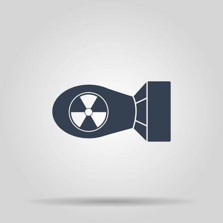 atomic bomb: The atomic bomb icon. Flat design style Illustration