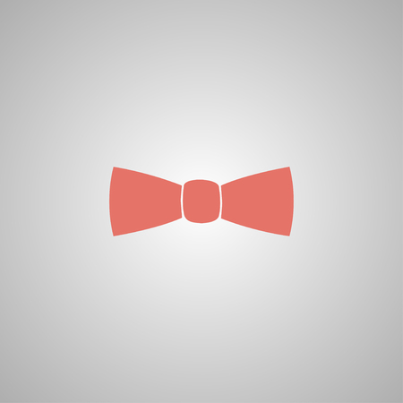official wear: Bow tie, icon vector. Flat design style eps 10