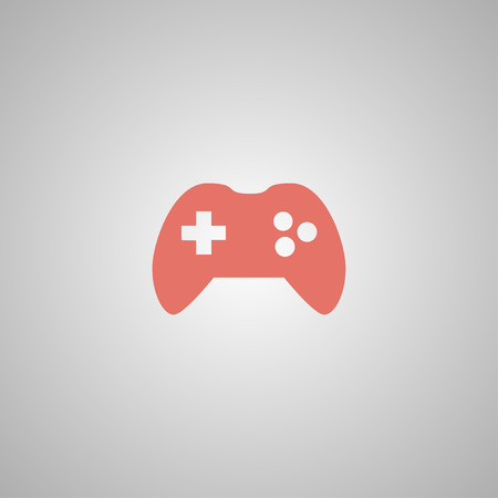 joy pad: Game controller icon. Flat design style