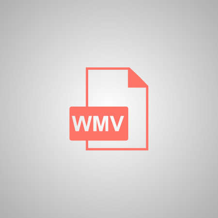 wmv: wmv file icon. Flat design style