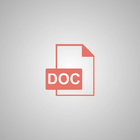 rotated: File document icon. Download doc button. Vector