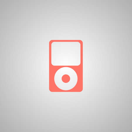 portable player: Portable media player icon. Flat design style. Vector