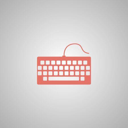put the key: keyboard icon. Flat design style Illustration