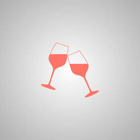 cabernet: Wine glass icon. Flat design style eps 10