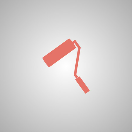 paint roller: Paint roller icon. Flat design style