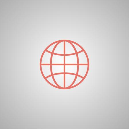 World Globe Icon, pictogram icon. Flat design style eps 10 Illustration