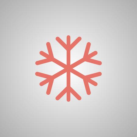lightweight ornaments: Snowflake flat icon. Vector illustration EPS 10