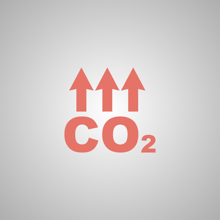 dioxide: Chemistry sign. CO2 carbon dioxide icon. Flat