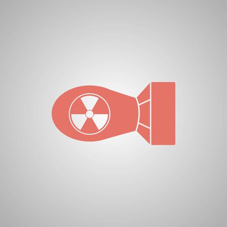atomic bomb: The atomic bomb icon. Flat design style eps 10
