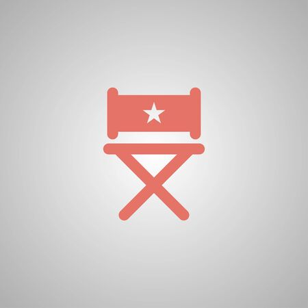 s video: director chair icon. Flat design style eps 10