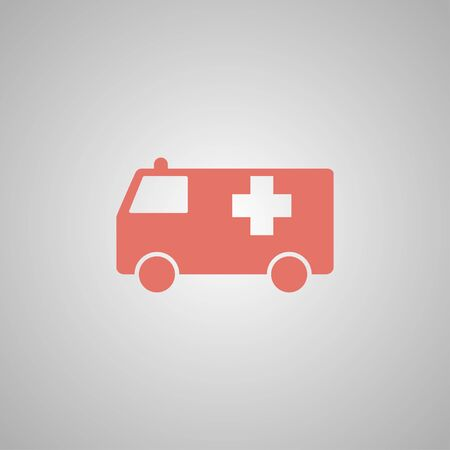 harm: ambulance icon. Flat design style eps 10