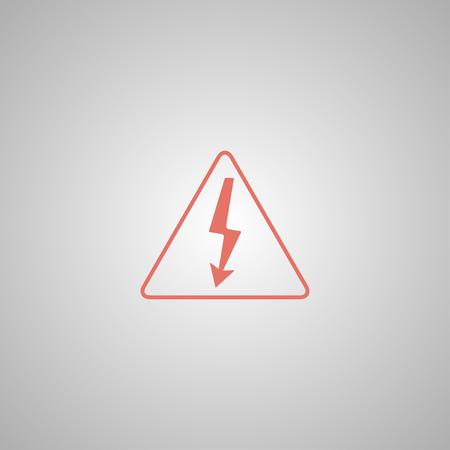 High voltage - Vector illustration. Flat design style eps 10