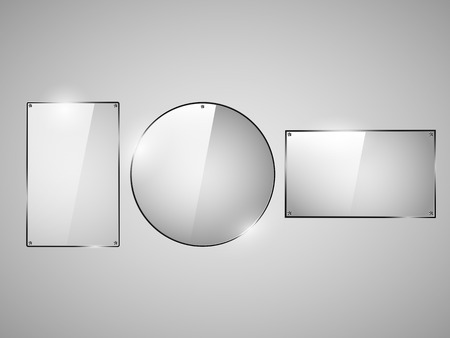 plexiglas: Glass Framework,  design style modern vector illustration vector Illustration