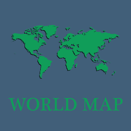 Vector world map background with long shadow and flat design vector vector world map background with long shadow and flat design style clean and modern gumiabroncs Gallery