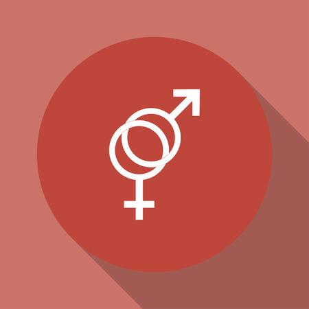 sex symbol: Male and female sex symbol - vector illustration. Illustration