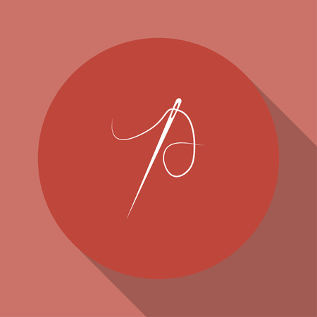 closer: Needle icon  Flat design style eps 10