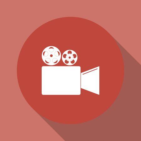 past production: Cinema camera icon. Flat design style eps 10 Illustration
