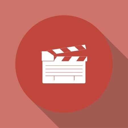 clapper board: movie clapper board, movie maker vector. Flat design style eps 10