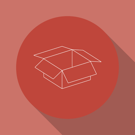 stockpile: box vector illustration. Flat design style eps 10 Illustration
